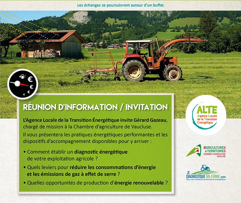 Réduire la facture d'énergie de votre exploitation agricole